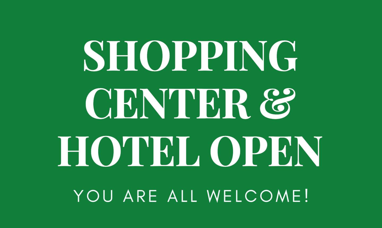 HOTEL CENTRUM OPEN!